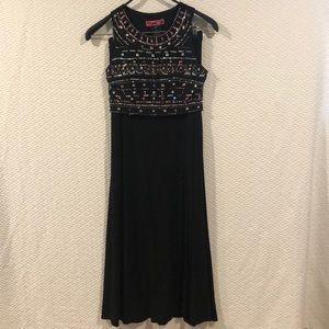 Morgan & Co Sequin Black 2 Piece Dress Size 5/6